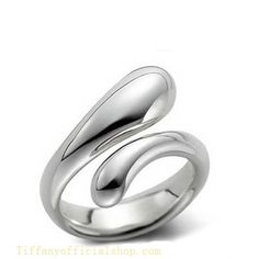 Tiffany & Co Outlet Elongated Teardrop Ring -$47.00