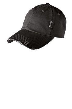 3b47ef490a69f Black Distressed Hat