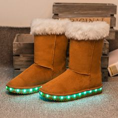 Hot New Baby Boys Girls LED Light Shoes Toddler Anti-Slip Sports Snow Boots  Kids Sneakers Children s Flats shoes 5 colors 12ee570e2f06