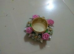 Diya Decoration Ideas, Diy Diwali Decorations, Festival Decorations, Mason Jar Candle Holders, Candle Holder Decor, Candle Stand, Diwali Diya, Diwali Craft, Floating Candles