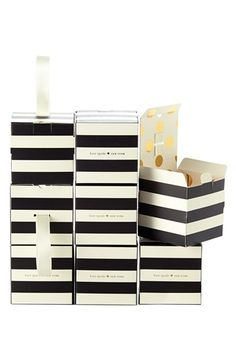 Free shipping and returns on kate spade new york stripe favor boxes (set of 8) at Nordstrom.com. Add a bit of kate spade savoir-faire to your next soirée with these chic striped party-favor boxes strung with satin ribbons. A gold-foil version of kate spade's signature dots adorn the inside.