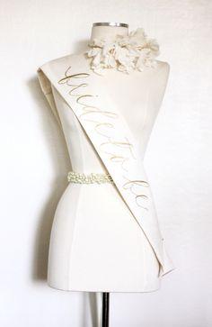 Bride To Be Sash — Handmade by Sara Kim