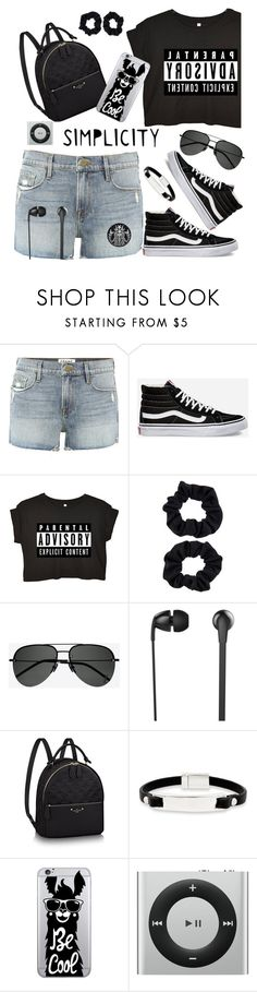 """Untitled #407"" by riuk ❤ liked on Polyvore featuring Frame, Vans, Accessorize, Yves Saint Laurent, The Sharper Image, Kenneth Cole and OTM Essentials"