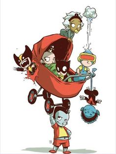 X-Babies by Skottie Young -  awwhaw, lil' colossusssss