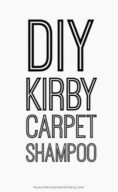 """Homemade Kirby Dry Foam Carpet Shampoo: I tweaked it a bit as the original """"recipe"""" called for ammonia (not alcohol):   12 c. warm water-1 Tbsp white vinegar-1 Tbs ammonia-3 Tbsp Dawn  Worked GREAT! And so much cheaper than the Kirby shampoo"""