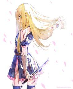 Image about anime in 🌸 Touken Ranbu by ›› ɪᴠᴇᴀᴛʜᴇ Kawaii Anime Girl, Anime Art Girl, Manga Art, Anime Girls, Akira, Satsuriku No Tenshi, Angel Of Death, Touken Ranbu, Anime Outfits