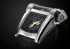 Parmigiani Fleurier Bugatti Type 390. The latest wristwatch from Parmigiani Fleurier is a tribute to the Bugatti Chiron, the world's fastest car with a top speed of 420 km/h
