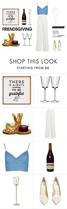 """Gather 'Round: Friendsgiving"" by yulianeka ❤ liked on Polyvore featuring Dot & Bo, RogaÅ¡ka, Sagaform, Sonia Rykiel, Frontgate, Francesco Russo and GUESS by Marciano"