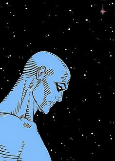 Dr Manhattan again Old Comic Books, Comic Book Characters, Old Comics, Vintage Comics, Fukushima, Chernobyl, Anime Rock, Dr Manhattan, Dave Gibbons