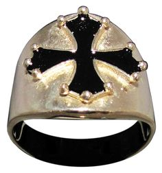 Cathar Cross Ring Catharism Symbol in Bronze