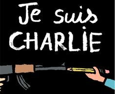 """Jean Jullien, """"Je Suis Charlie"""" """"I am Charlie"""" for the name """"Charlie Hebdo"""", name of the french magazine where the most beloved satirical journalists of the last 50 years have been killed by islamisc terrorists in Paris. Satire, Jean Julien, Anne Sinclair, Georges Wolinski, Charlie Hebdo, Charlie Charlie, What Do You Mean, Freedom Of Speech, Freedom Freedom"""