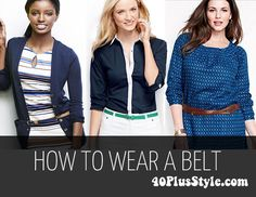 How to Wear a Belt   40plusstyle.com