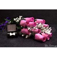Lavender Wax Dipped Roses