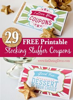 FREE Printable Stocking Stuffer Coupons!