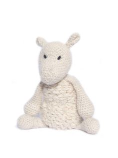 Spring lamb knitting/crochet pattern and kit - great for a spring needlework project! Made using 100% british alpaca wool.