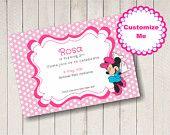 Minnie Mouse editable invitations.