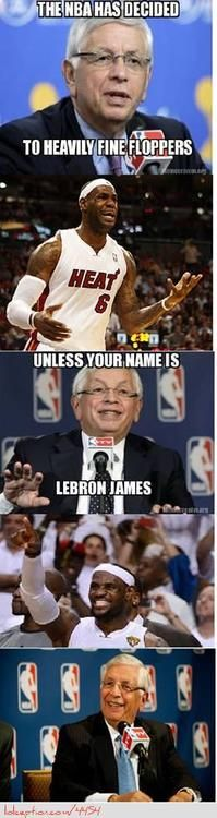 LeBron James' relationship with David Stern! - http://nbafunnymeme.com/lebron-james-relationship-with-david-stern/