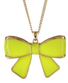 neon bow -perfect for spring :)
