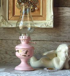 Shabby Chic Pink Brass Lantern-- must find one in thrift/antique store and make into a Shabby Chic one!