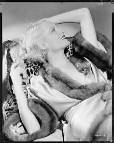 Camera negative of Carole Lombard.