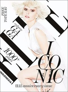 Elle Indonesia. another brilliant example of bold black serif typography around and in front of the photography.