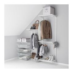 Great IKEA ALGOT Wall upright shelves rod The parts in the ALGOT series can be bined in many different ways and easily adapted to your needs and space