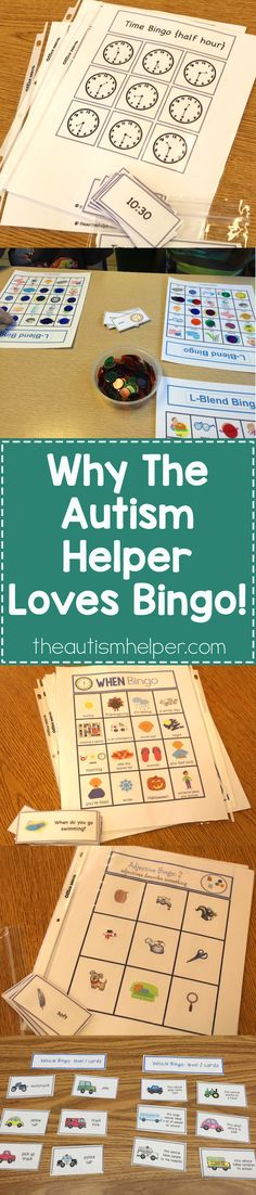 Bingo helps teach & reinforce TONS of skills & concepts. We're sharing our favorite versions of bingo to use in an Autism classroom! From theautismhelper.com #theautismhelper
