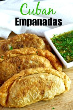 Cuban Empanadas {with homemade dough} - Tasty Ever After - Cuban Empanadas – Easy and delicious fried hand pies with a picadillo filling and a flaky crust. Beef Recipes, Mexican Food Recipes, Dinner Recipes, Cooking Recipes, Latin Food Recipes, Cooking Ribs, Salmon Recipes, Recipies, Tostadas