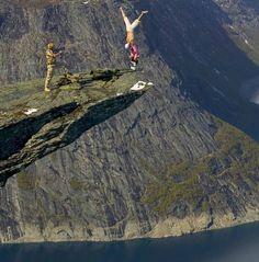 Eskil Ronningsbakken from Norway does crazy stunts. OMG. My heart can't take it...
