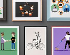 Graphic Design Illustration, New Work, Adobe Illustrator, Gallery Wall, Behance, Branding, Illustrations, Orange, Check