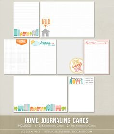 Image of Home Journaling Cards (Digital)