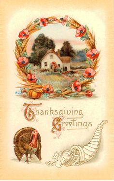 All sizes | Vintage Thanksgiving Postcard, Meeker series | Flickr - Photo Sharing!