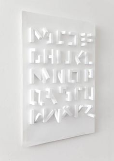 3D typeface (only visible from one angle) by Stefan Abrahams.