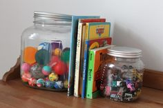 Bookend Jars from Lemon Tree Creations