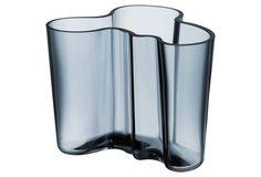 "6"" Aalto Glass Vase, Blue"