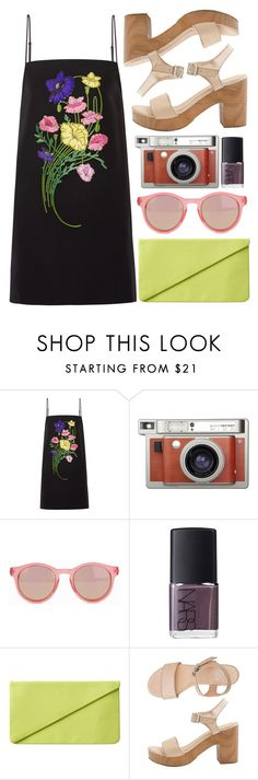 """feel the light"" by rosiee22 ❤ liked on Polyvore featuring Christopher Kane, Lomography, Le Specs, NARS Cosmetics, Monki and American Apparel"