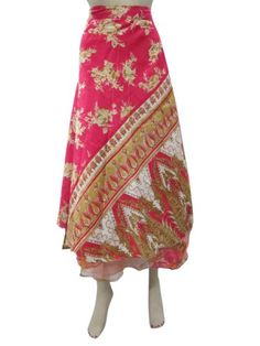 Sari Wrap Two Layer Red Pink Reversible Wrap Around Skirt Sarong Dress Mogul Interior,http://www.amazon.com/dp/B00F4OOFYY/ref=cm_sw_r_pi_dp_0N5qsb1WJHG9100N
