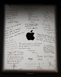 iPad engraved with words of endearment. What a great Birthday Gift!  In A Flash Laser - iPad Laser Engraving