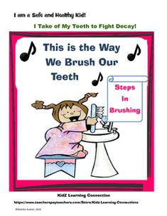 """This fun activity asks students to number the steps in brushing teeth teeth and then answer questions about their tooth-care practices.A good activity for reinforcing sequencing as well as dental hygiene!Follow up this activity with the a title=""""Dental Health and Safety Try 5 Rules"""" href=""""https://www.teacherspayteachers.com/Product/Dental-Health-and-Safety-Try-5-Rules-2260379"""">Dental Health and Safety Try 5 Rules"""