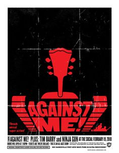 Against Me! poster by Lure Design, via GigPosters.com