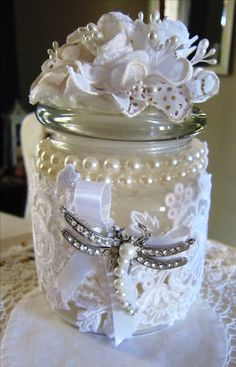 Decorated candle in a bottle: www.jennyhaskins.com or jennyhaskinsdesigns1 on Facebook