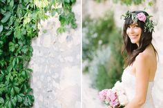 bride's portrait // Wedding photographer in Provence  Village Lacoste, Luberon Valley  Maya Maréchal