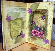 Beautiful altered book.