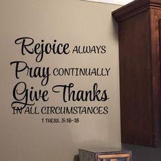 1 Thessalonians 5:16-18 Vinyl Wall Decal 1 by Wild Eyes Signs, Give Thanks in all Circumstances, Bible Verse Wall Quote, Scripture Wall Art, 1TH5V16-0001