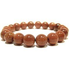Goldstone Bracelet 02 Stretch 10mm Brown Glitter Copper Meridian Stone Healing Beaded  Price : $30.00 http://www.idigcrystals.com/Goldstone-Bracelet-Stretch-Glitter-Meridian/dp/B00DD5YJNS