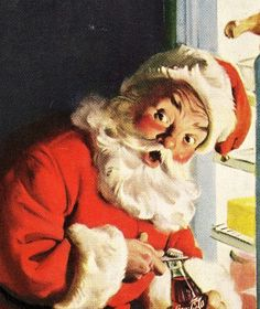 antique 1958 santa claus advertisement coca cola by FrenchFrouFrou