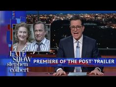 Colbert Premieres Exclusive Trailer Of 'The Post' Starring Meryl Streep and Tom Hanks | Stephen draws a straight line from the Paradise Papers to the Pentagon Papers, which are the subject of the new film 'The Post' starring Meryl Streep and Tom Hanks.