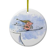 I Believe I Can Fly! - Cool Ski Jumping Pig - Use this link for coupon codes: https://www.zazzle.com/coupons?rf=238077998797672559