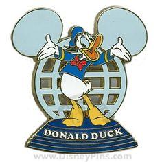 Disney Resort Ear Globe Pin - Donald Duck