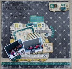 Layout made by Authentique Paper DT Member Angie Blom
